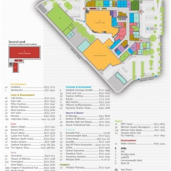 Plan of Mitcham Square Shopping Centre