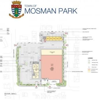 Plan of Mosman Park Shopping Centre