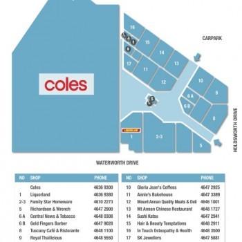 Plan of Mount Annan Central Shopping Centre