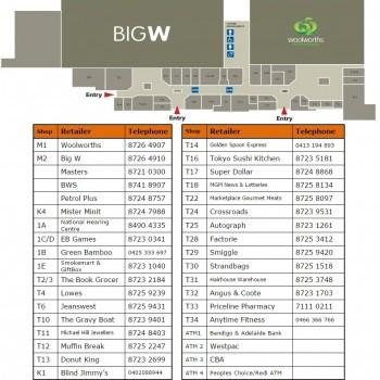 Plan of Mount Gambier Marketplace
