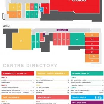 Plan of Mountain High Shopping Centre