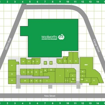 Plan of Nerang Mall Shopping Centre