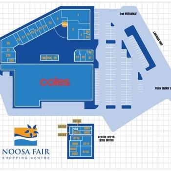 Plan of Noosa Fair Shopping Centre