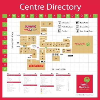 Plan of North Blackburn Shopping Centre