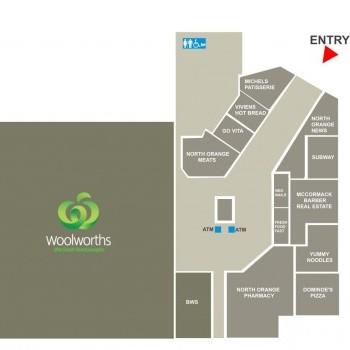 Plan of North Orange Shopping Centre