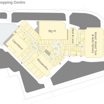 Plan of Northcote Shopping Plaza