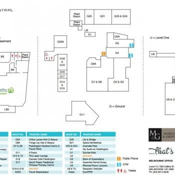 Plan of Paddington Central Shopping Centre