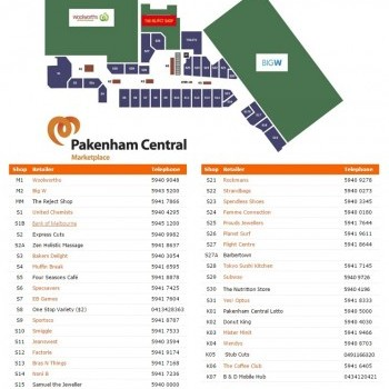Plan of Pakenham Central Marketplace