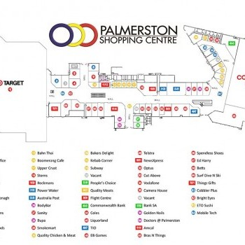 Plan of Palmerston Shopping Centre