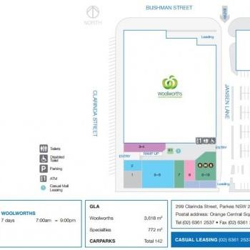Plan of Parkes Metroplaza