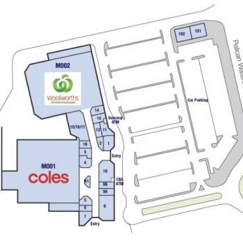Plan of Pelican Waters Shopping Village
