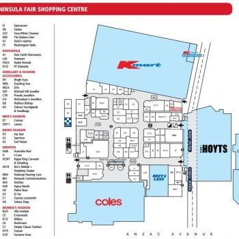 Plan of Peninsula Fair Shopping Centre