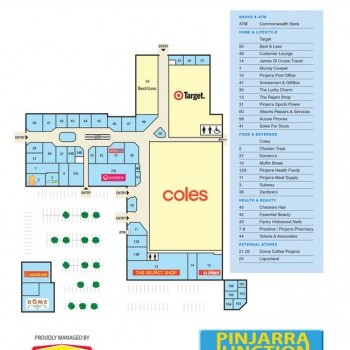 Plan of Pinjarra Junction Shopping Centre