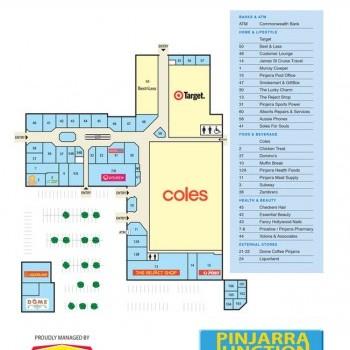Plan of Pinjarra Junction Shopping Centre