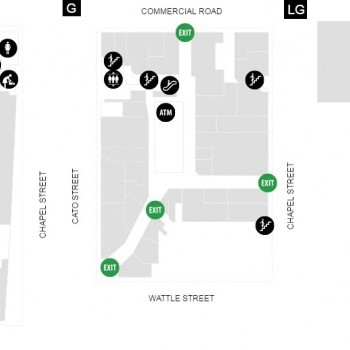 Plan of Pran Central Shopping Centre