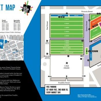 Plan of Queen Victoria Market