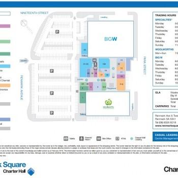 Plan of Renmark Plaza
