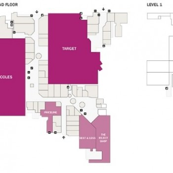 Plan of Riverside Plaza Shopping Centre