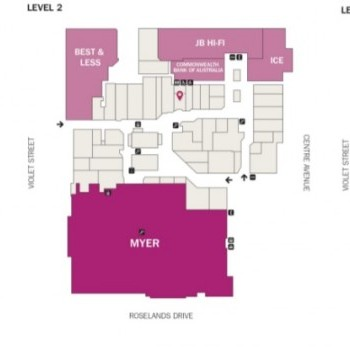 Plan of Roselands Shopping Centre