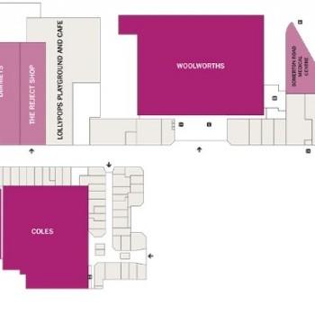 Plan of Roxburgh Park Shopping Centre