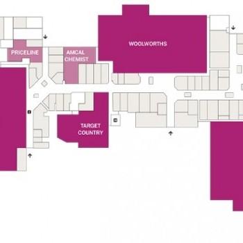 Plan of Salamander Bay Shopping Centre