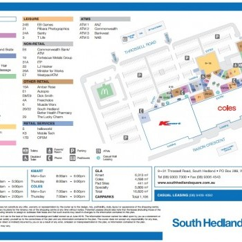 Plan of South Hedland Shopping Centre