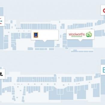 Plan of Stockland Merrylands