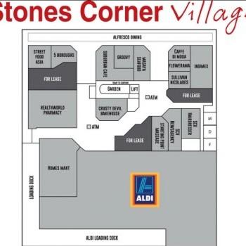 Plan of Stones Corner Village