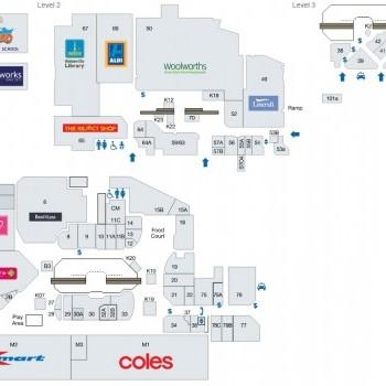Plan of Sunnybank Hills Shoppingtown