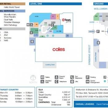 Plan of Sunnyside Mall