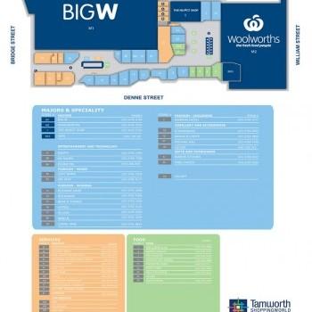 Plan of Tamworth Shopping World