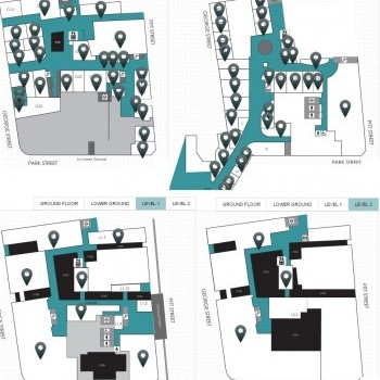 Plan of The Galeries