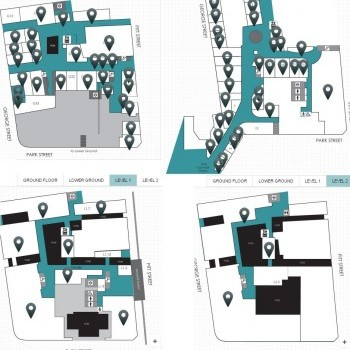 Plan of The Galeries Victoria