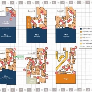Plan of The Myer Centre Brisbane