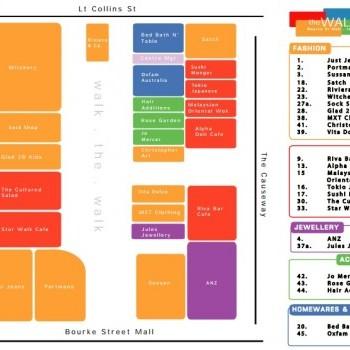 Plan of The Walk Arcade