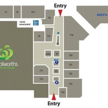 Plan of Treendale Shopping Centre