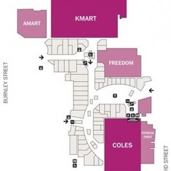 Plan of Victoria Gardens Shopping Centre