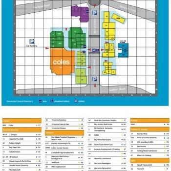 Plan of Vincentia Shopping Village