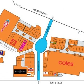 Plan of Waterford Plaza Shopping Centre