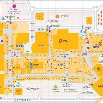 Plan of Werribee Plaza