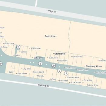 Plan of Westfield Burwood