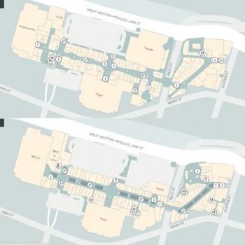 Plan of Westfield Penrith