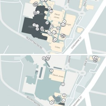 Plan of Westfield Warringah Mall