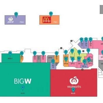 Plan of Westside Plaza