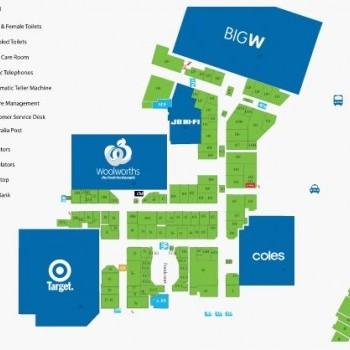 Plan of Willows Shopping Centre