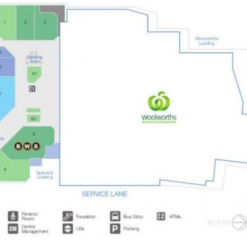 Plan of Windsor Marketplace