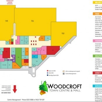 Plan of Woodcroft Town Centre