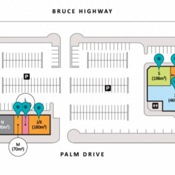 Plan of Woodlands Village Shopping Centre